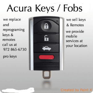 acura key replacement dfw